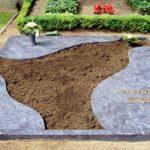 Grabanlage mit Teilabdeckung