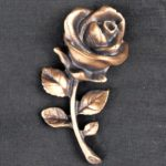 Bronzeornament Kleine Rose.