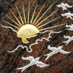 Motiv - Vögel mit untergehender Sonne