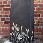 Stele aus schwedischen Basalt