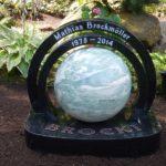 Weltkugel mit Ringen für die Namensnennung