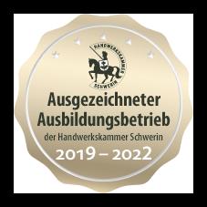 Ausgezeichneter Ausbildungsbetrieb der Handwerkskammer Schwerin